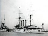 The Izumo was an armored cruiser of the Imperial Japanese Navy. The Izumo was named after Izumo Province, an ancient province of Japan (corresponding to present-day Shimane Prefecture). The Izumo was used by Imperial Japan to intimidate and attack China and Shanghai.